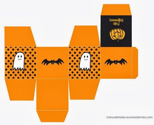Template caja halloween para imprimir