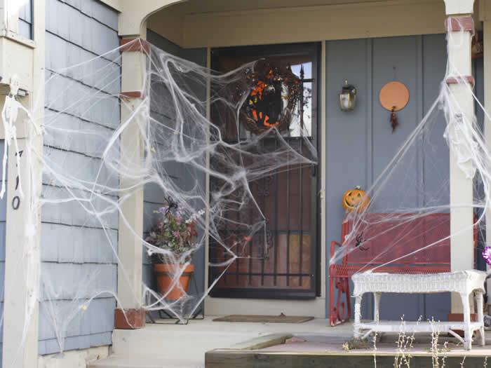 Idea para decoración halloween entrada