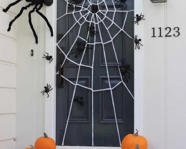 ideas para decorar la puerta en Halloween