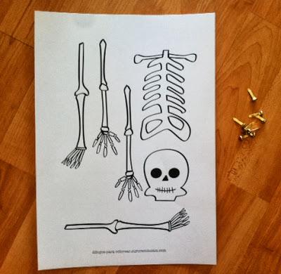 esqueleto para recortar Halloween