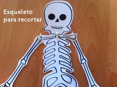 esqueleto recortable Halloween