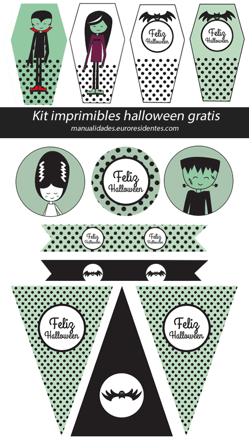 Kit imprimible de Halloween - Manualidades