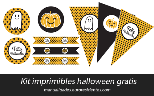 Kit imprimible Halloween
