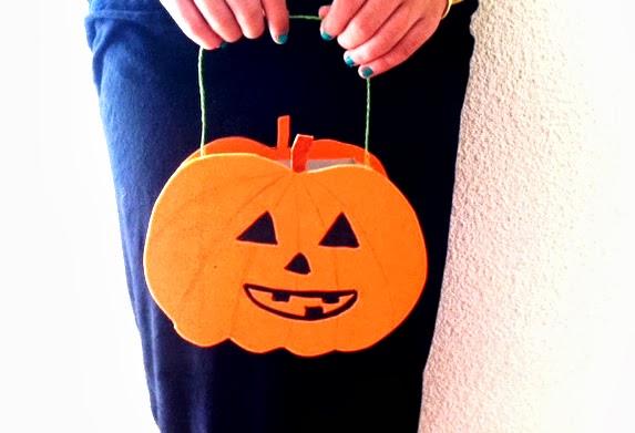 cesta para caramelos halloween