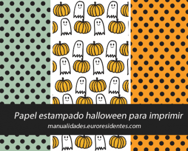 Papel decorado de Halloween