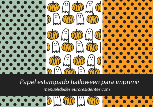 papel halloween decorar