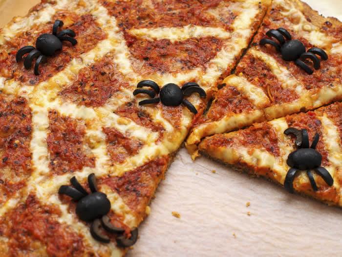 Pizza halloween decoración