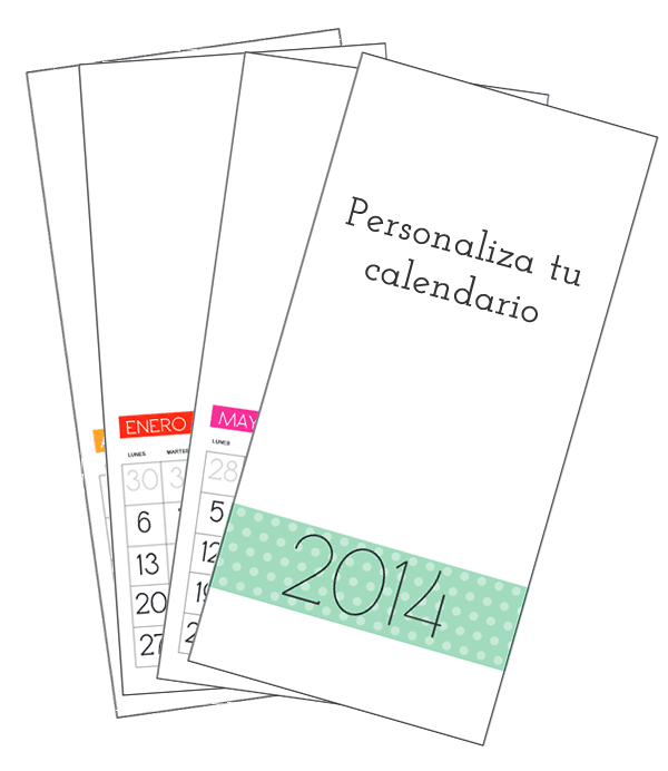 Cómo hacer calendario personalizado 2014 - Manualidades