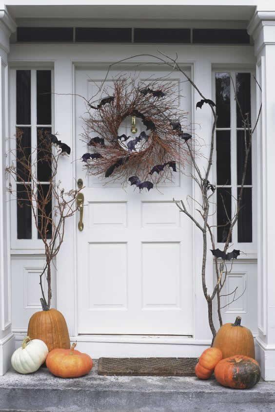 Decoración de puerta para Halloween