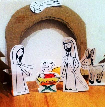belén de navidad casero para niños