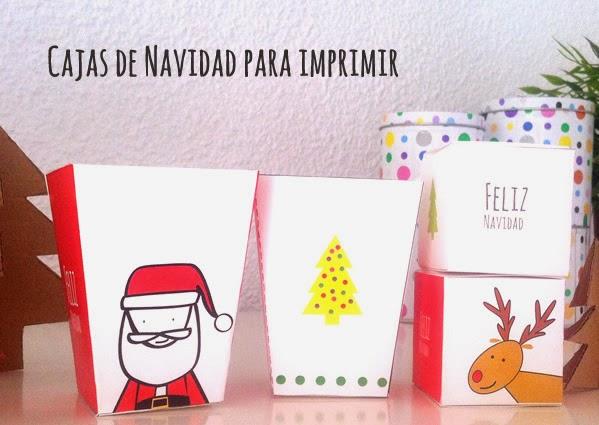 Cajas de Navidad para imprimir