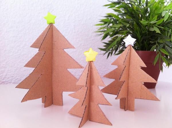 Como Hacer Un Arbol Para Navidad De Carton Manualidades - Hacer-arboles-de-navidad