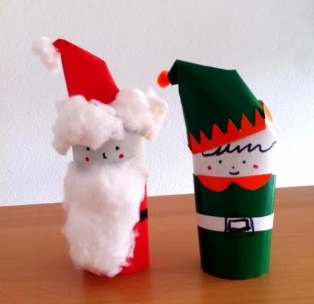 Manualidades de navidad con rollos de papel manualidades - Manualidades navidad papel ...