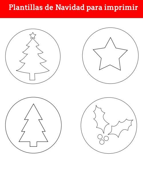 Plantillas de Navidad para imprimir - Manualidades
