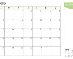 calendario_enero_imprimir_verde