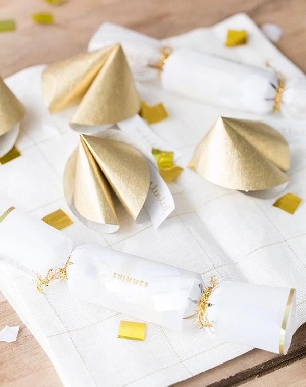 Galletas de la suerte en papel