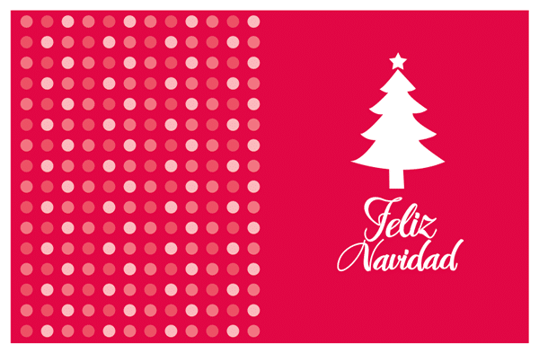 tarjeta de navidad para imprimir. dibujo árbol