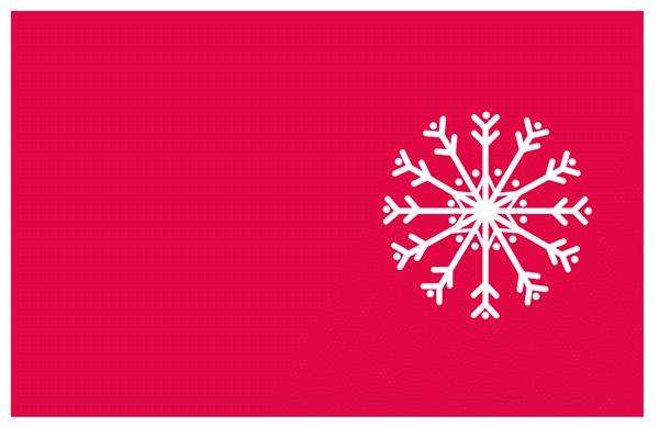 tarjetas navidad para imprimir. copo nieve fondo rojo
