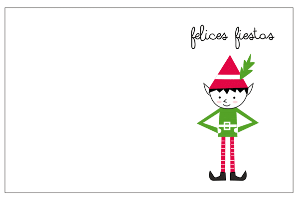 Tarjetas de Navidad para imprimir gratis  Manualidades
