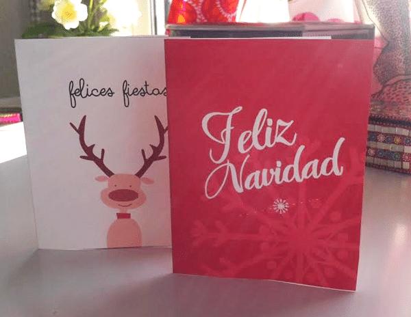 Ejmplo de tarjeta de Navidad para imprimir  acabada