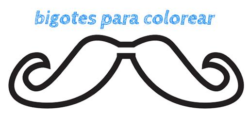 bigotes para colorear