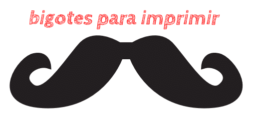 bigotes para imprimir