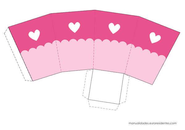 Caja imprimible rosa