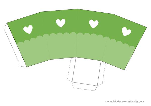 Caja imprimible verde