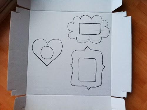 cómo hacer marco fotos cartón