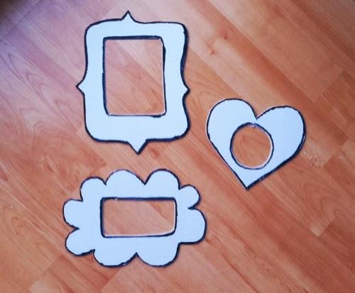 C mo hacer marcos de cart n divertidos y originales - Marcos de papel para fotos ...