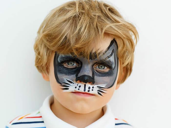 Maquillaje de gato niño