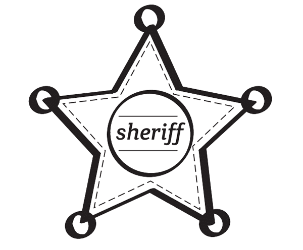 estrella de sheriff para imprimir