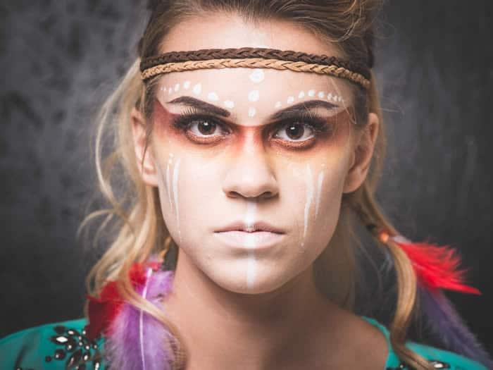 Maquillaje de india