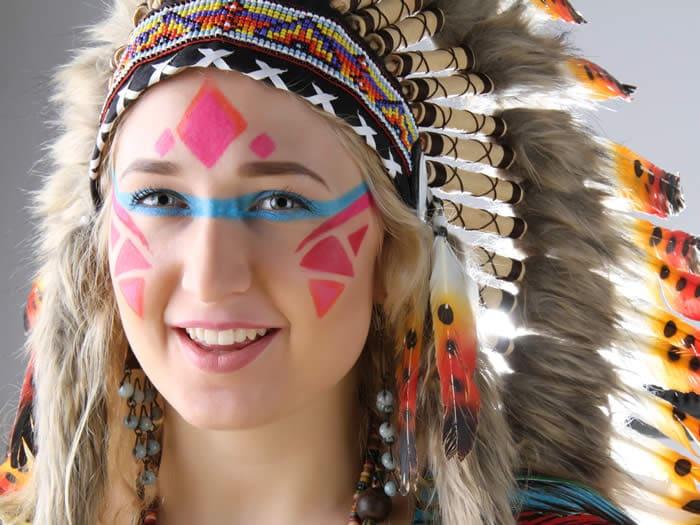 Maquillaje de indio fácil