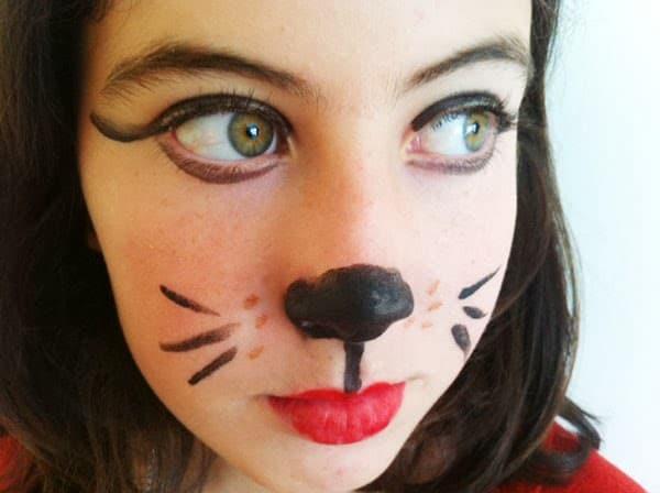 maquillaje gata niña