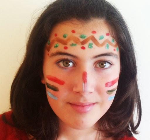 maquillaje india niña