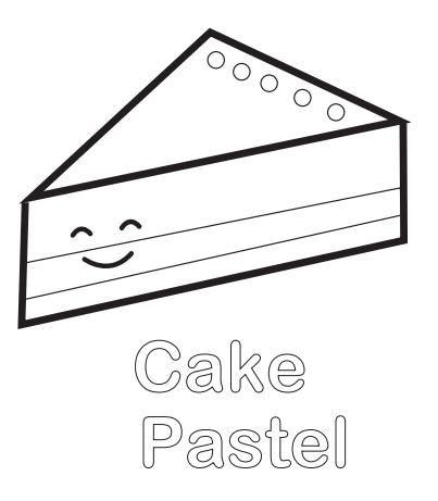 pastel para colorear