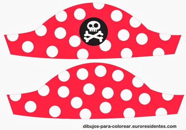 sombrero pirata niña para imprimir