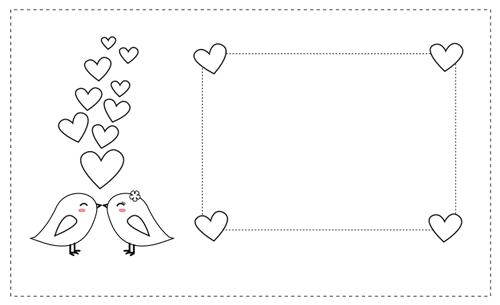 tarjetas San Valentín para colorear