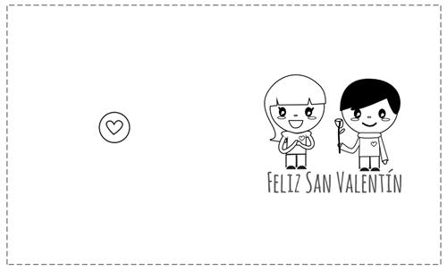 tarjetas San Valentín para pintar