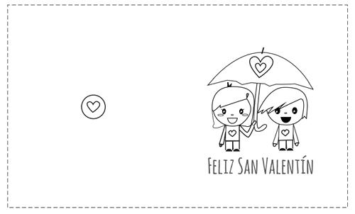 tarjetas San Valentín pintar