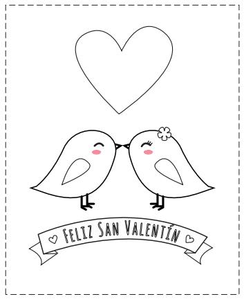 tarjetas San Valentín para colorear de amor