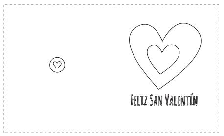 Tarjetas de San Valentín para colorear - Manualidades