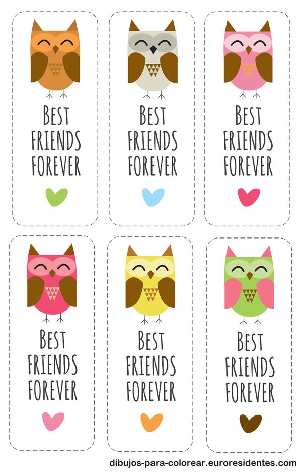 tarjetas de best friends forever imprimir