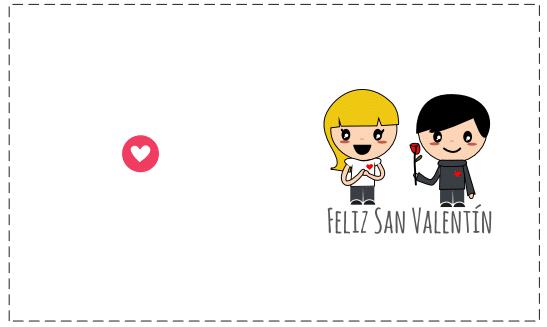 tarjeta pareja de enamorados horizontal