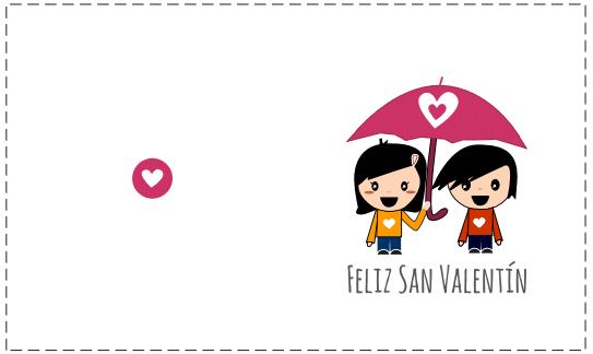 tarjeta pareja enamorados para San Valentín