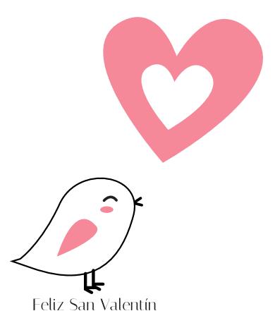 tarjeta Feliz San Valentín