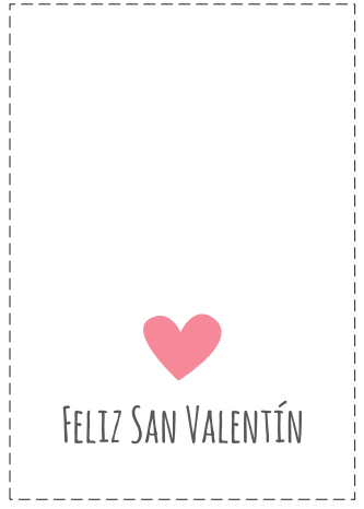 tarjetas Feliz San Valentin corazón rosa