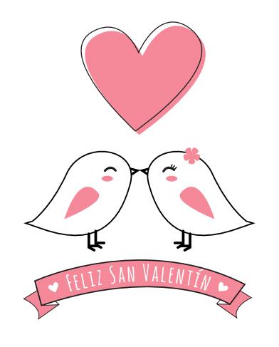 tarjeta romántica Feliz San Valentín