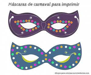 Máscaras de carnaval para imprimir